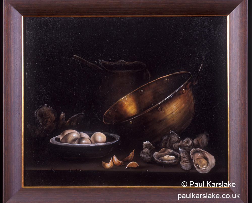Oysters, Eggs and a Copper Pot