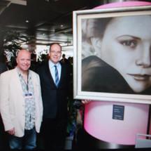 Paul Karslake and Prince Albert of Monaco