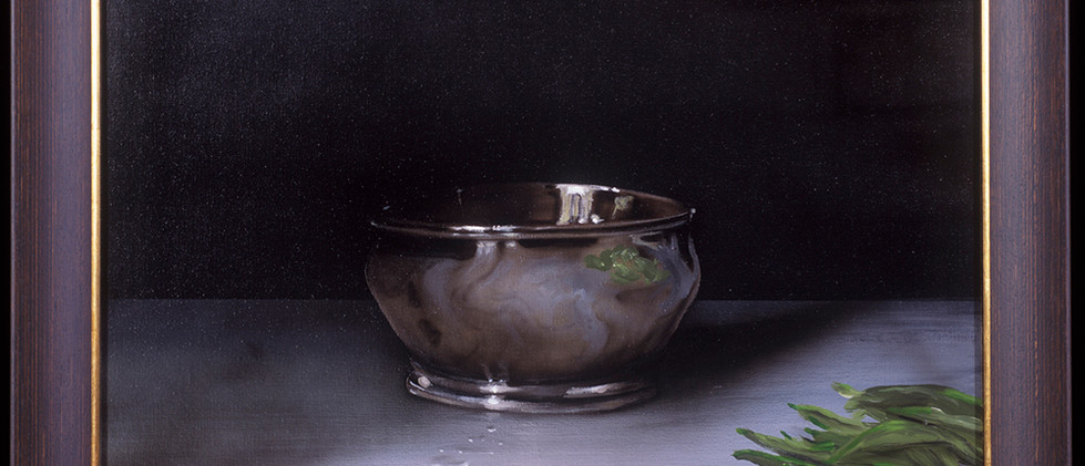 Silver Bowl with Beans
