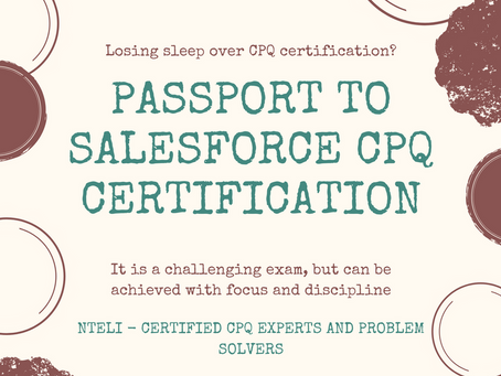 Passport to Salesforce CPQ certification