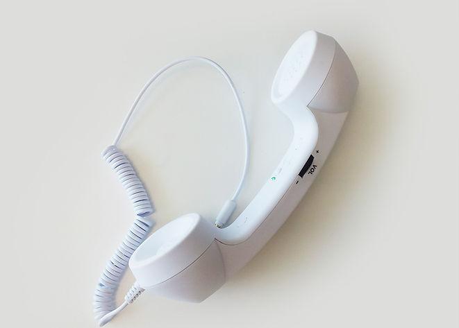 Línea fija blanca del auricular