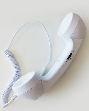 White Landline Earpiece