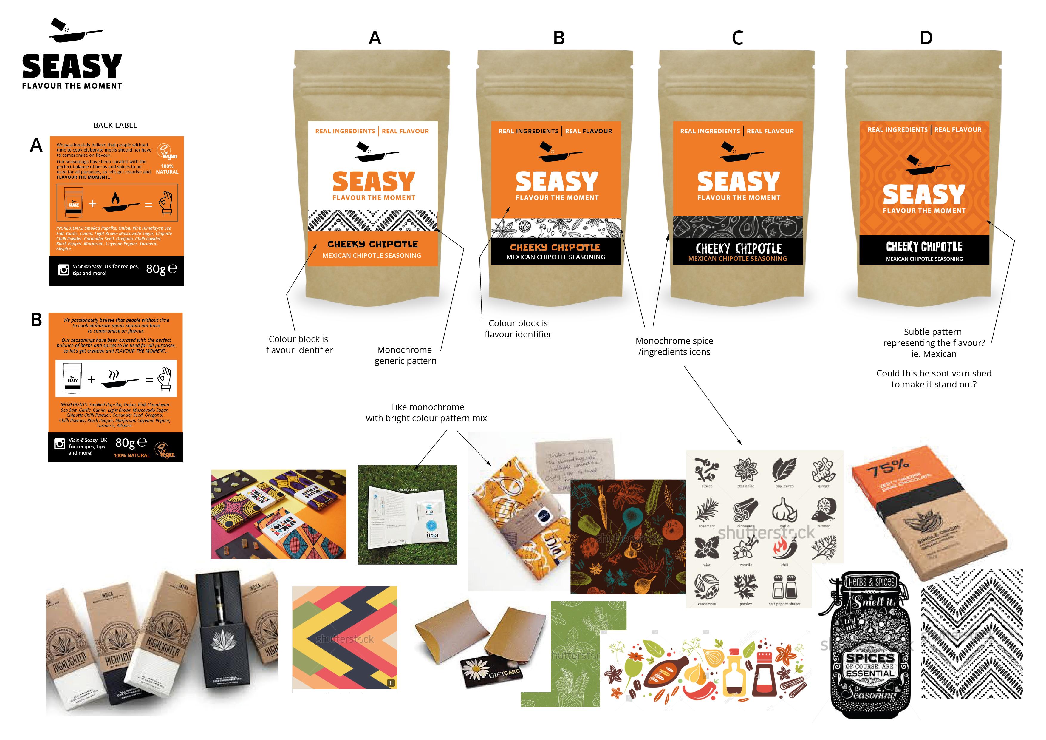 Seasy Label Designs