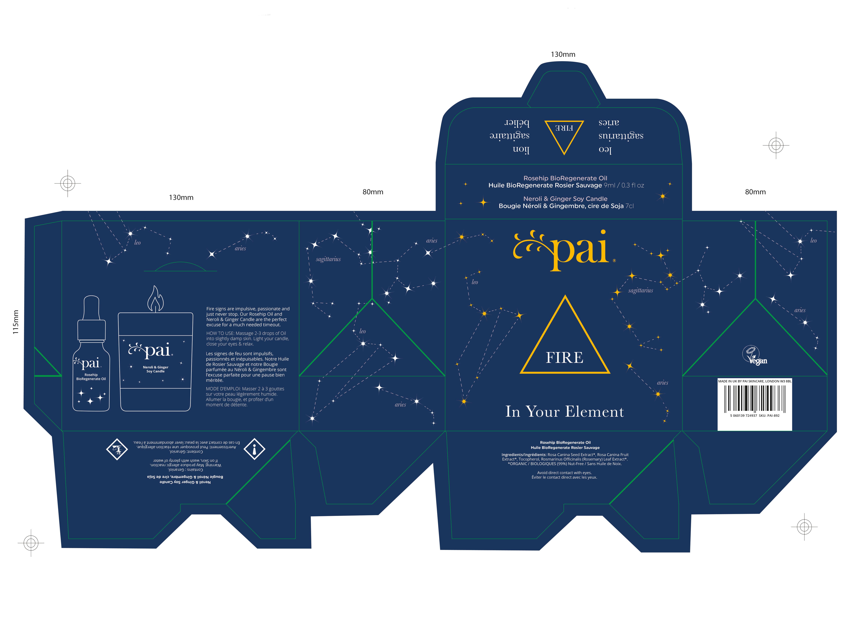 Pai Fire Xmas Gift Set Box artwork