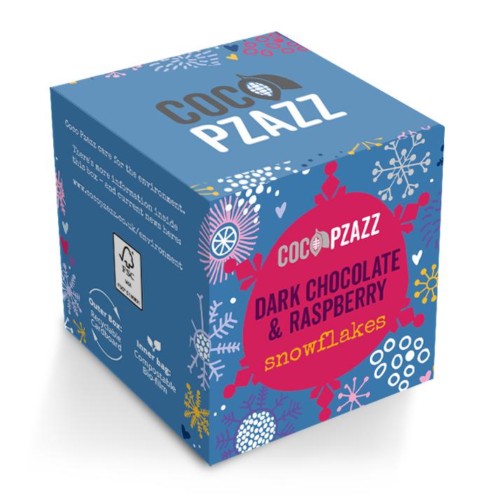 Dark Choc & Raspberry Snowflakes Box