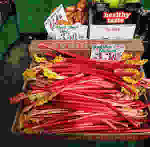Yorkshire Rhubarb at the Shambles Market
