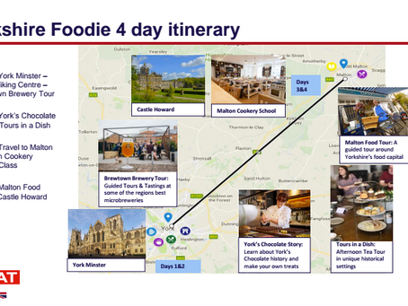 Why Food Tourism; Launching Visit Britain's Foodie Itineraries