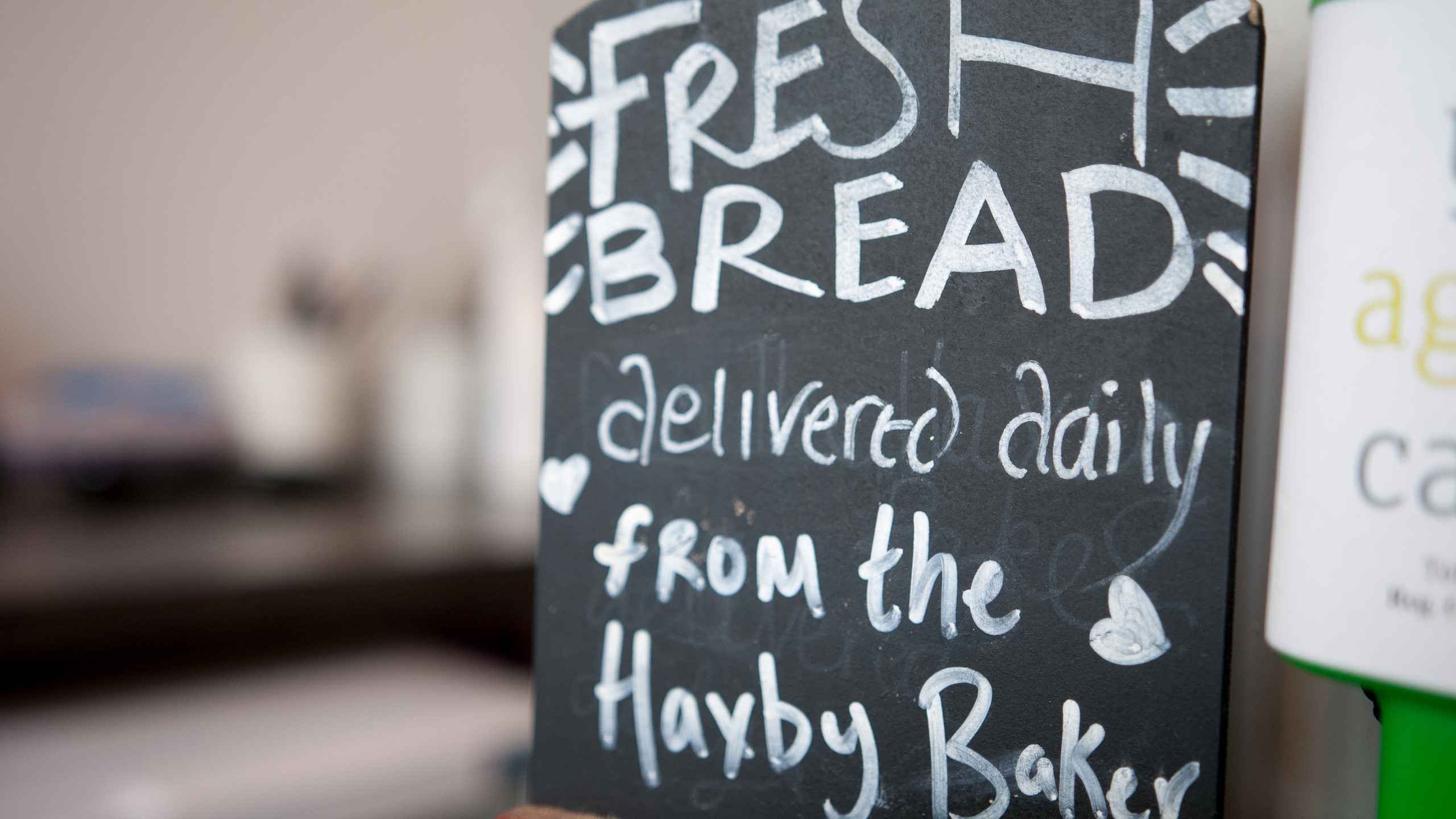 Fresh bread from the Haxby Baker