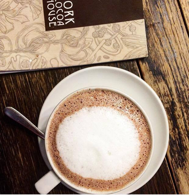 Rich and decadent hot chocolate at the Cocoa House