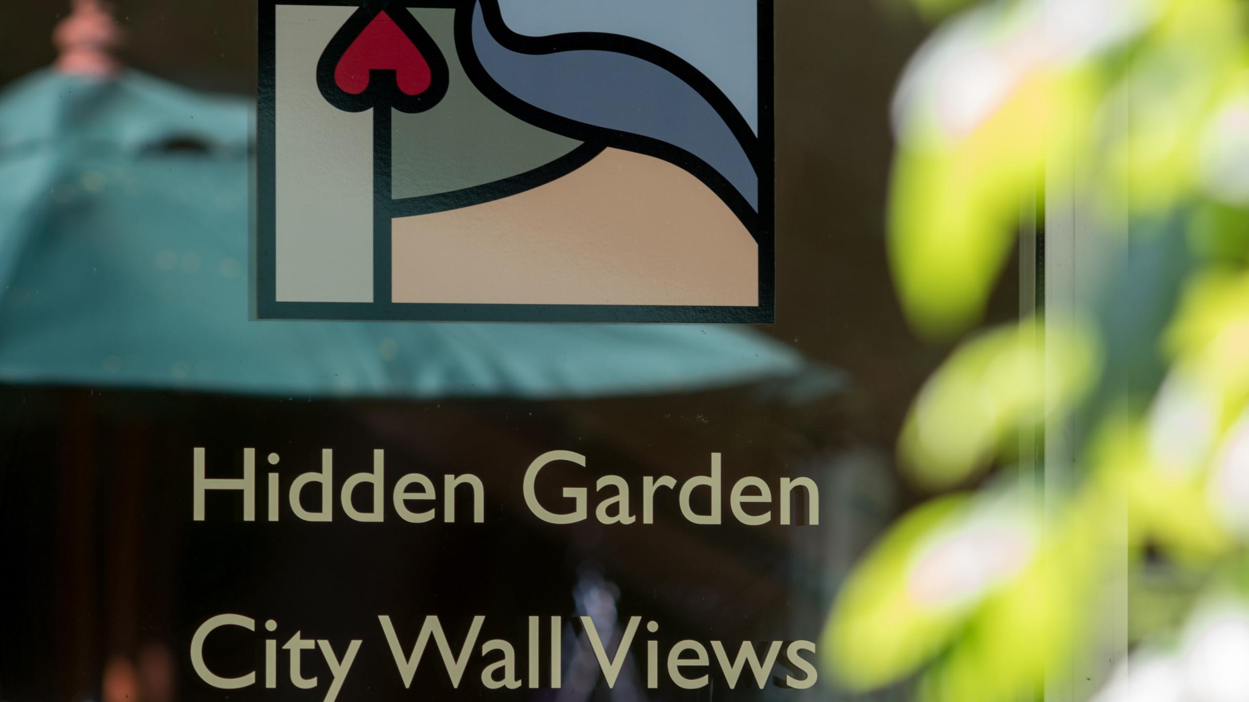 Hidden gardens spot the city!
