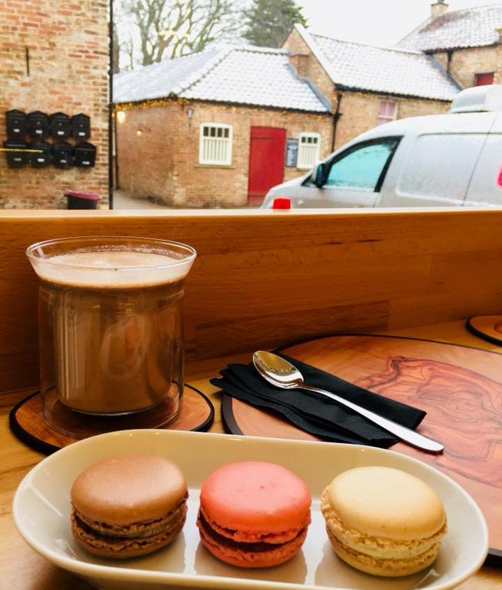 Hot Chocolate and macarons