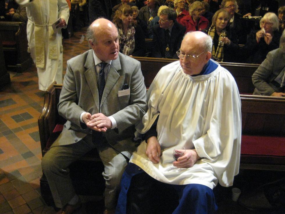 Church warden Allen and chorister Clive Jones.JPG