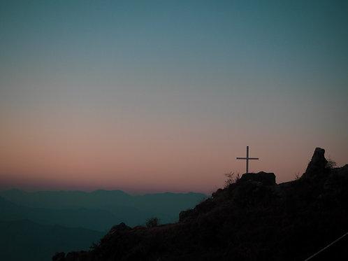 cross on a hill   एक पहाड़ी पर पार