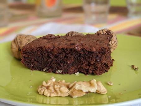 Brownie sans gluten, aux haricots rouges