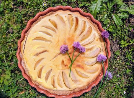 Tarte bourdaloue allégée aux poires et aux amandes