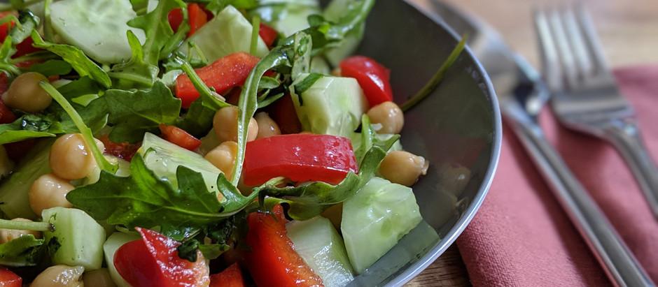 Salade pois chiche - poivron - tomate - concombre