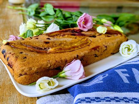 Cake léger à la banane (sans beurre, sans gluten)