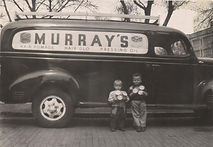 Murray Pomade sales and service truck Spaulding Settle own and used to market Murray Men Pomade nationwide
