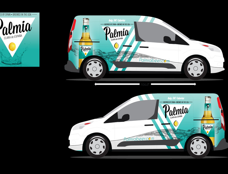 PALMIA BEER WRAP WHITE WITH BLUE