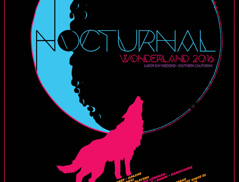 NOCTURNAL 2016 LE LINE-UP POSTER