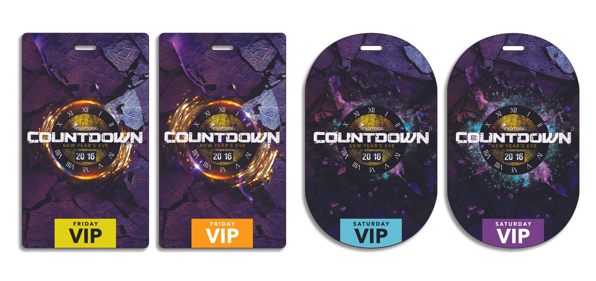 COUNTDOWN LENTICULAR VIP PASSES