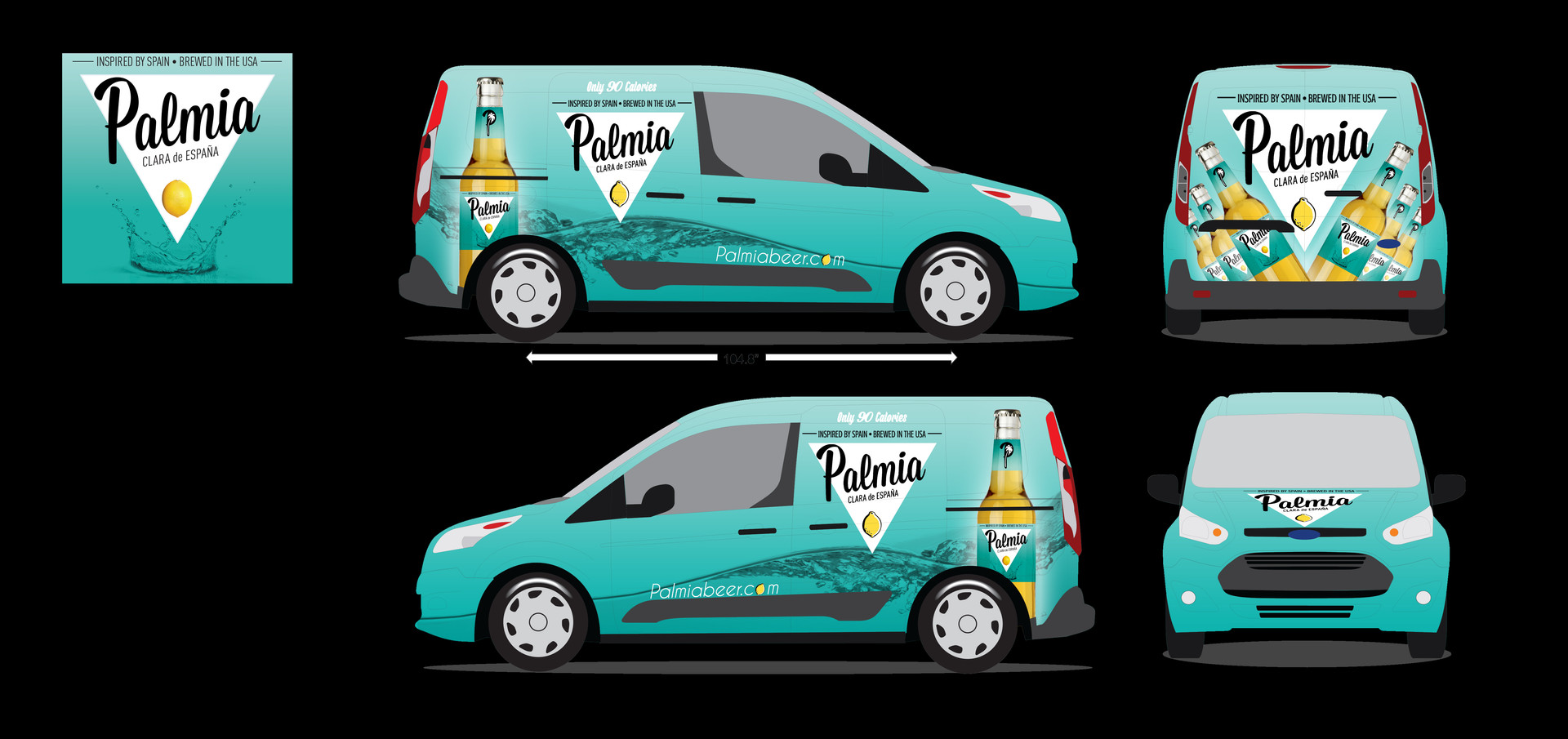 PALMIA BEER WRAP IN BLUE