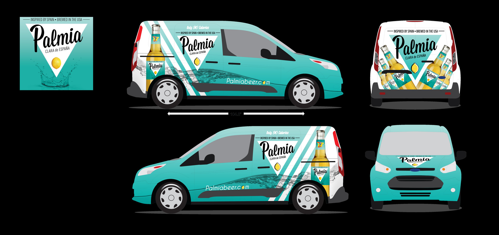 PALMIA BEER WRAP BLUE WITH WHITE