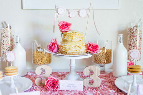 Pancakes and Pajamas Scalloped Mini Cake Banner dimplysweet