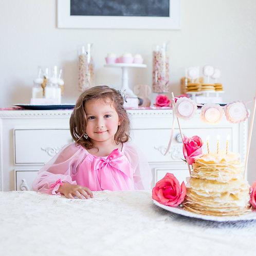 Pancakes and Pajamas - Scalloped Mini Cake Banner