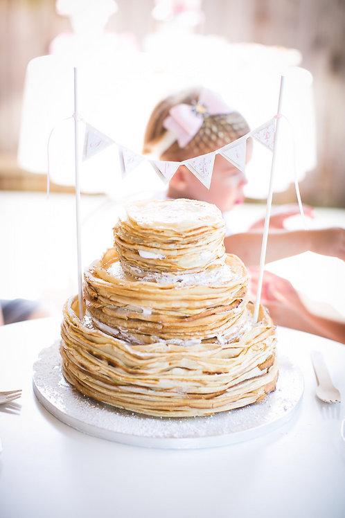 Pancakes and Pajamas - Flag Mini Cake Banner