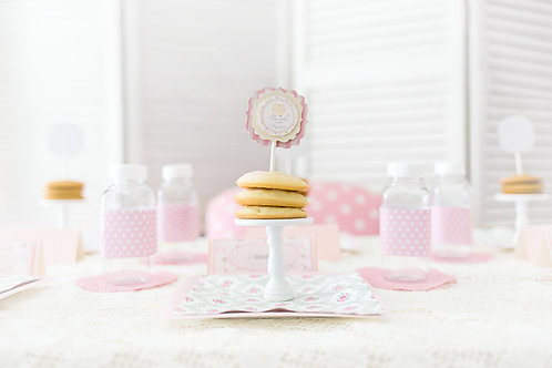 Pancakes and Pajamas - Layered Cupcake Topper
