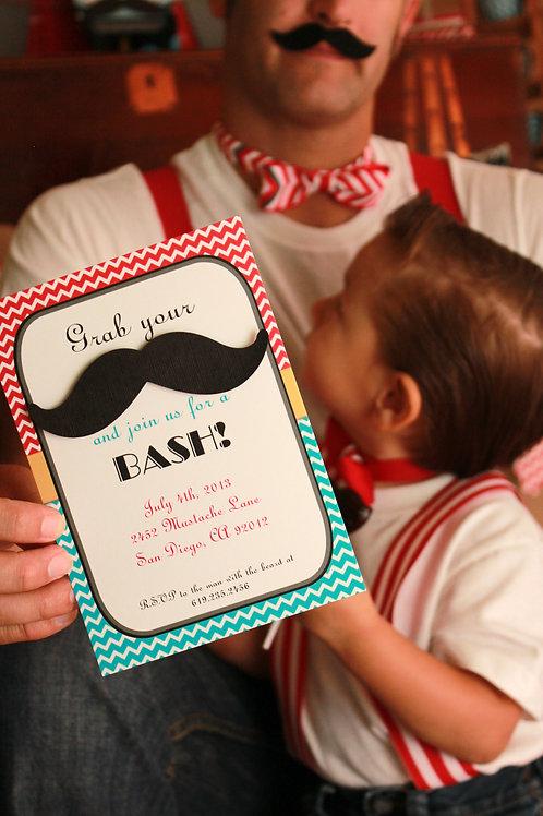 Personalized Mustache Invitation