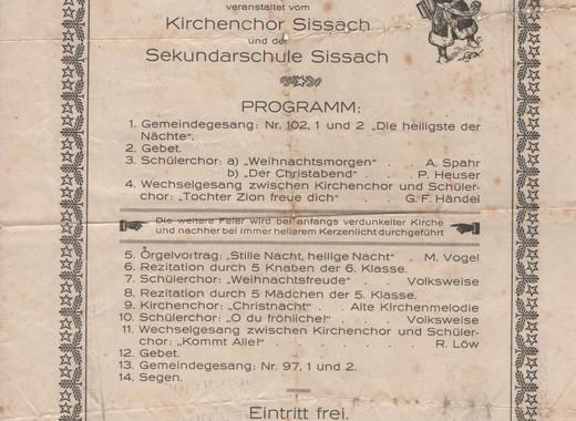 Weihnachtskonzert - 1921