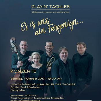 Playin' Tachles, Konzerttournée - Süddeutschland