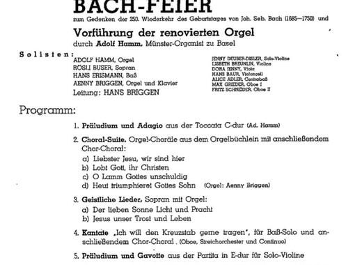 Bach-Feier - 1935