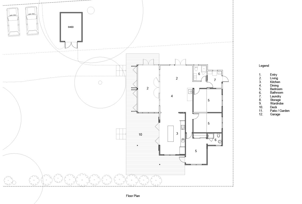 Waimarama Bach - Plans - Newl walls hatc