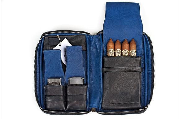 ilpasio Zigarrenetui azul -Zigarrenetui schwarz/ blau