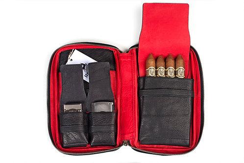 ilpasio Zigarrenetui rojo - Zigarrenetui schwarz/rot Vorderansicht