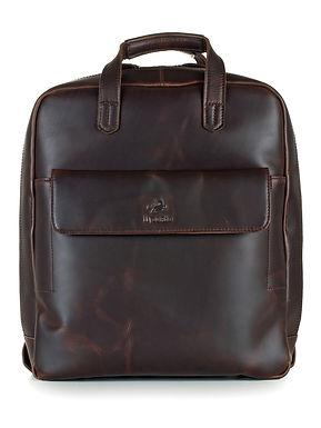 ilpasio Rucksack -Aktentasche marrón - Rucksack  Notebooktasche braun