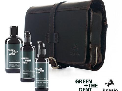 ilpasio Necessaire marrón - 3 Green & The Gent Produkten bestückt