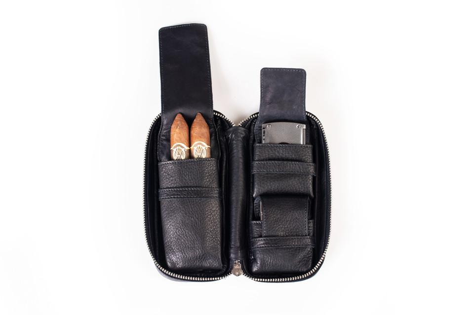 ilpasio Zigarrenetui small schwarz mit I