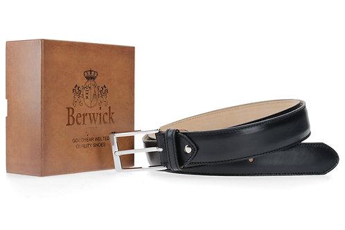 Berwick Ledergürtel Box Calf schwarz