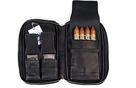 Zigarrenetui Leder negro | Zigarren Etui Leder negro