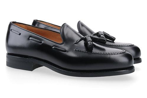 Berwick Tassel Loafer schwarz mit Ledersole