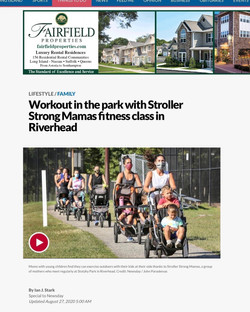 Workout in the park with Stroller Mamas fitness class in Riverhead