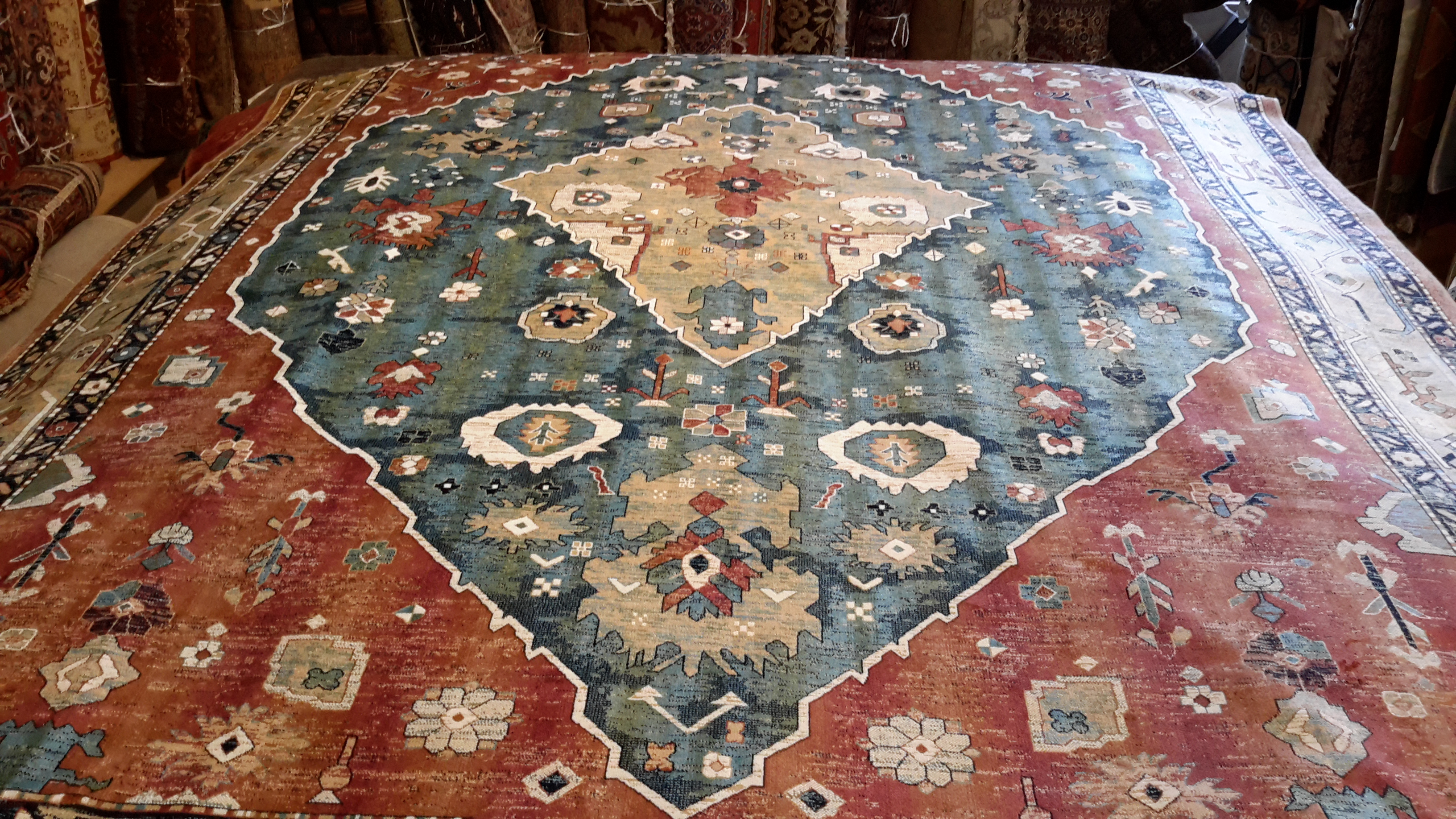 Hand-knotted traditional rug large