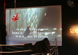 Text, Video, art at the Exhibition.
