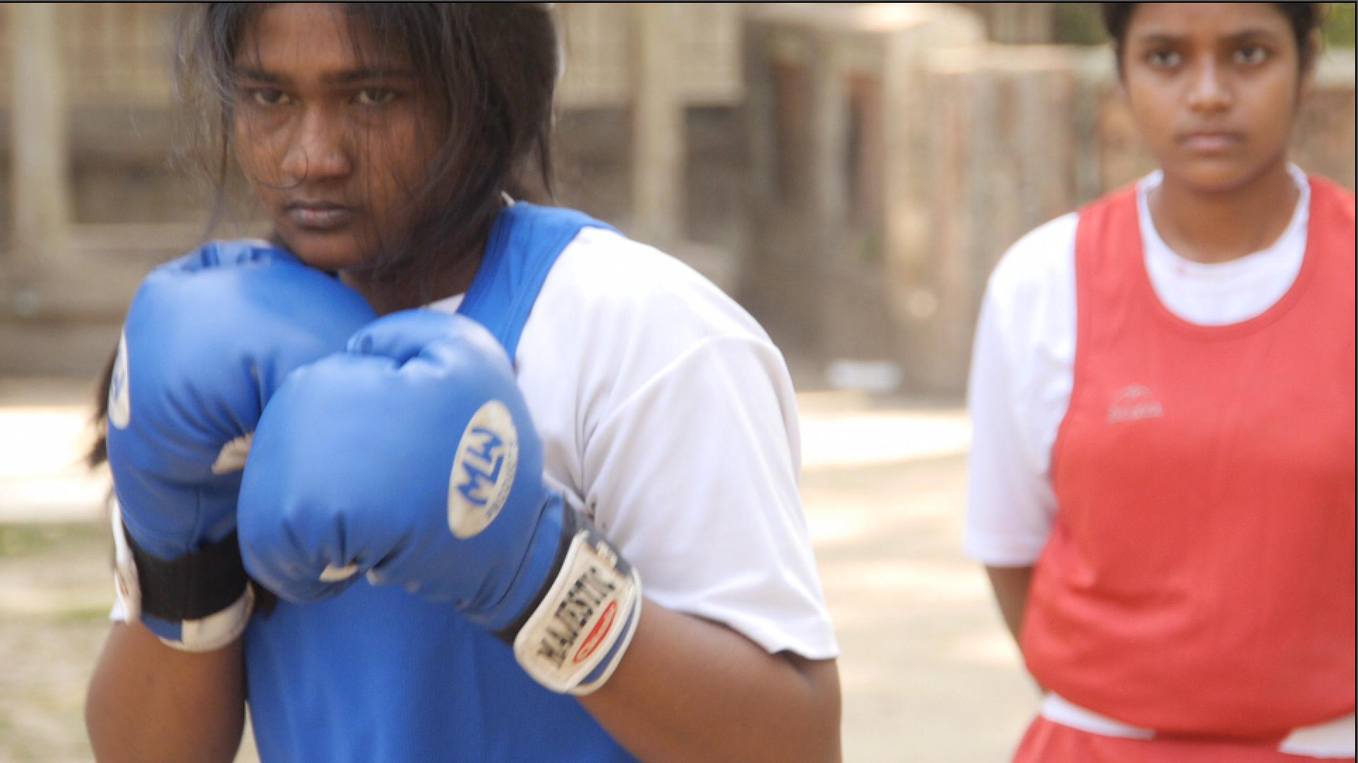 Taslima boxing.
