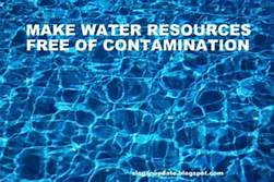 WITHOUT WATER, NOTHING IS POSSIBLE - Disinfection