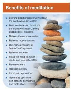 MEDITATION IS A BIG KEY TO MANAGING ANY ILLNESS.